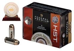 Federal Premium HST with NRA Golden Bullseye Award